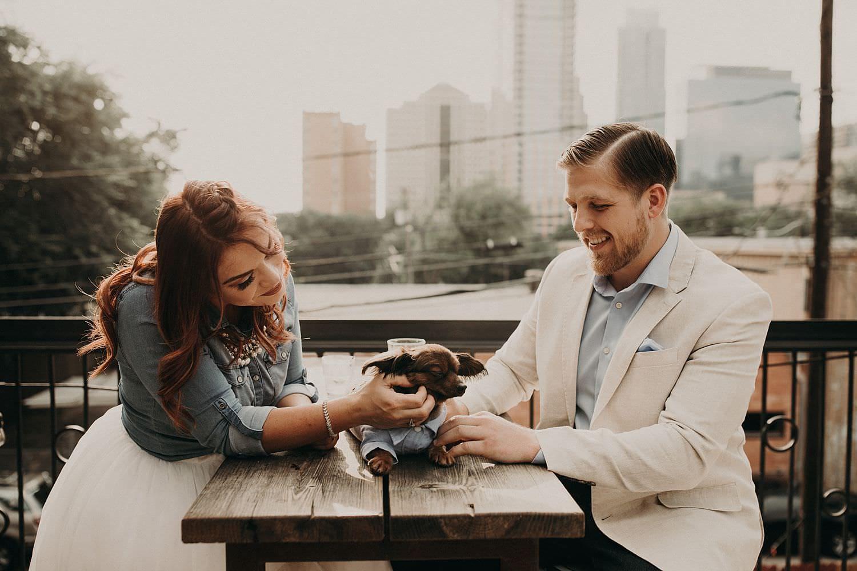 Heather & Alex's Rainey Street Bar District Engagement Photo Shoot in Austin, Texas