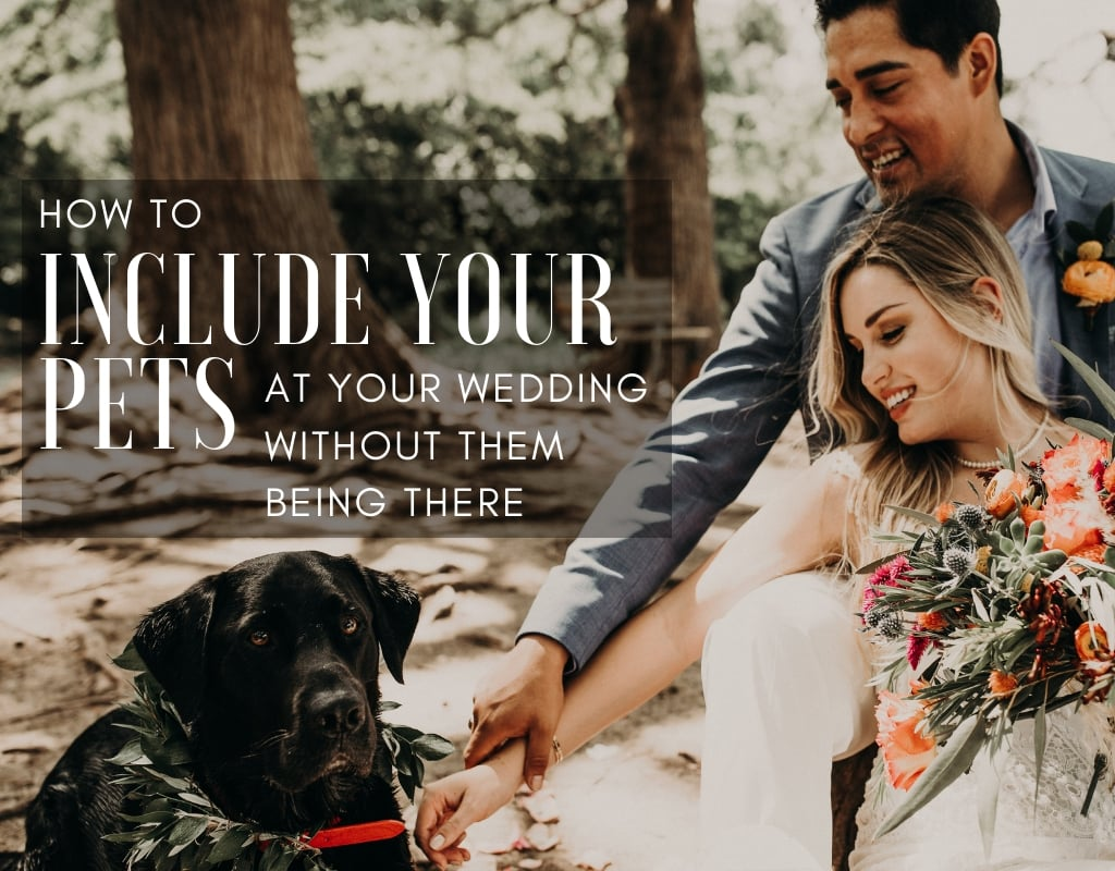How to Include Your Pets at Your Wedding Without Them Being There