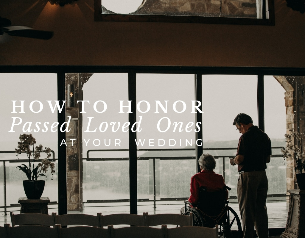 an older man standing next to an older women in a wheelchair as they look out the windows when it's raining in Austin, Texas
