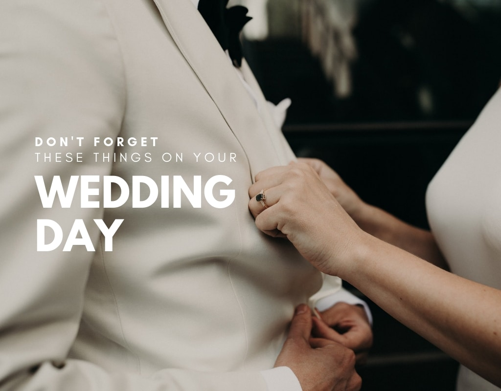 A close up of a bride adjusting groom's tux in Austin, Texas. Photograph by Austin, Texas wedding photographer Nikk Nguyen.