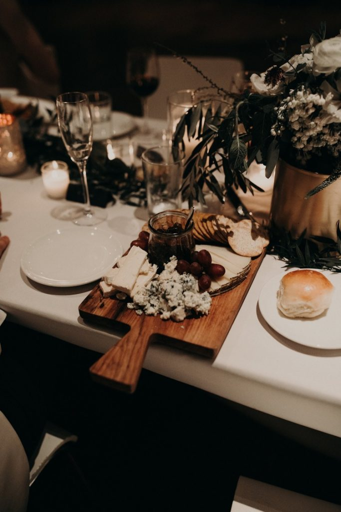 Photo by Nikkolas Nguyen, Austin, Texas Wedding Photographer of a set table for a wedding dinner