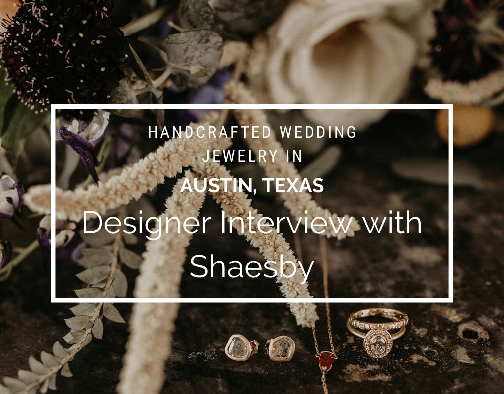 Handcrafted Wedding , artisan Jewelry in Austin, Texas: Designer Interview with Shaesby. A wedding bouquet of flowers arranged on a table with Shaesby jewelry photographed by Austin, Texas wedding photographer Nikk Nguyen