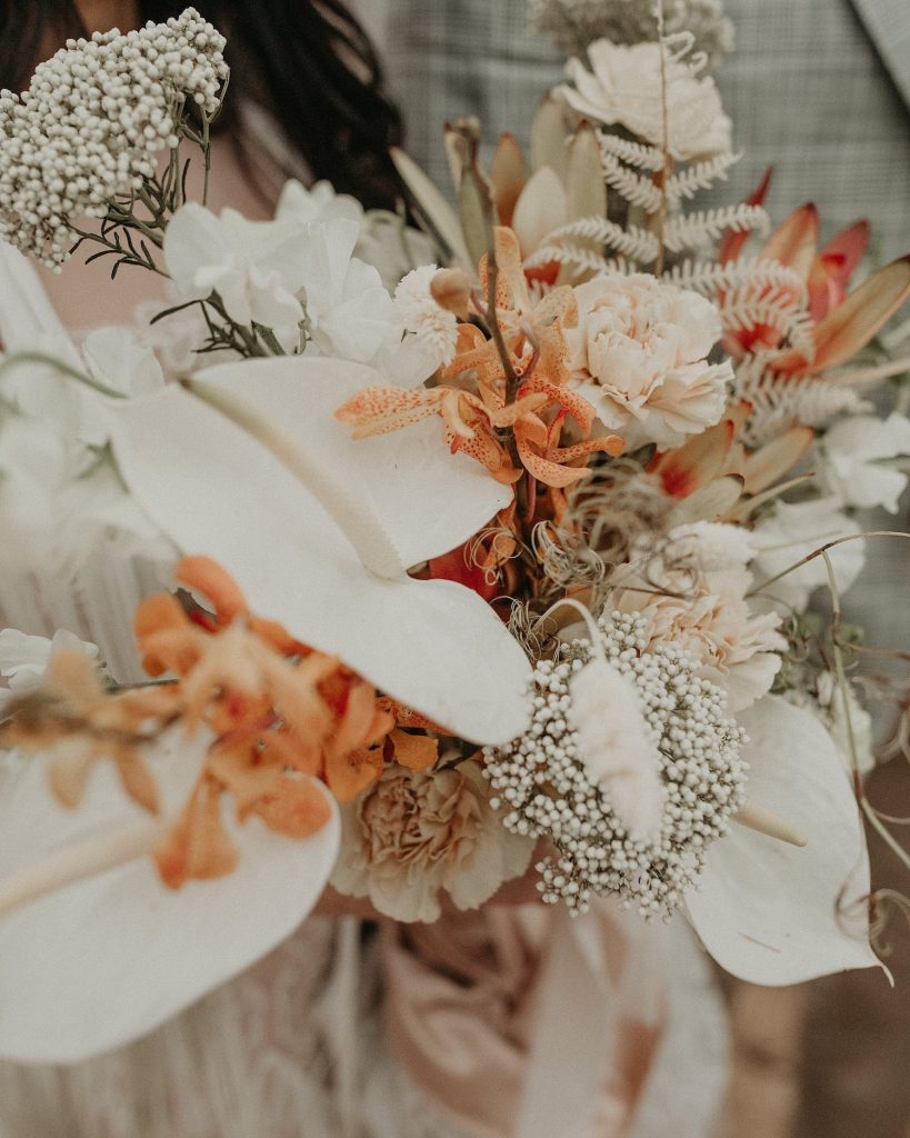 A whimsical wedding bouquet by Gypsy Floral and Events, an Austin based floral designer. Image by Austin, TX wedding photographer Nikk Nguyen.