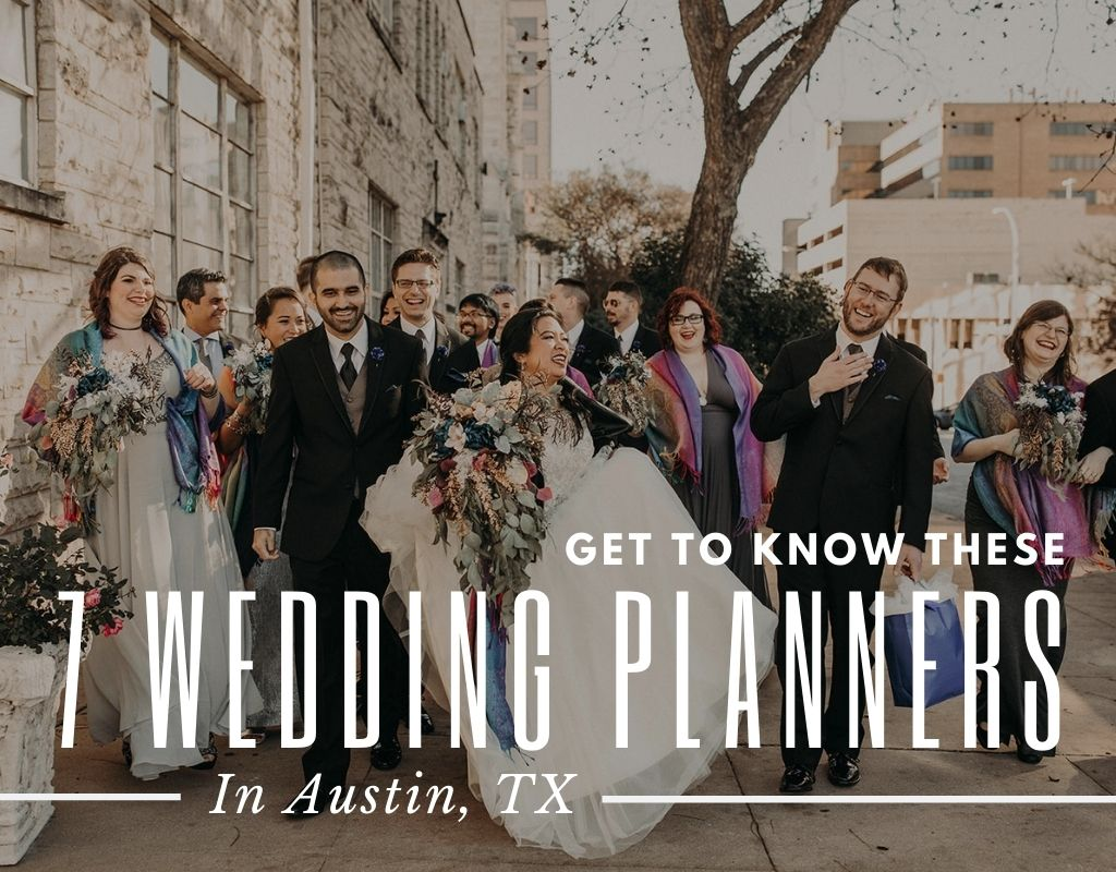 A couple celebrates on the streets of Austin, Texas with their friends during the wedding planned by Big Time Creatives, one of the many Austin, Texas wedding planners. Image by Austin, TX wedding photographer Nikk Nguyen.