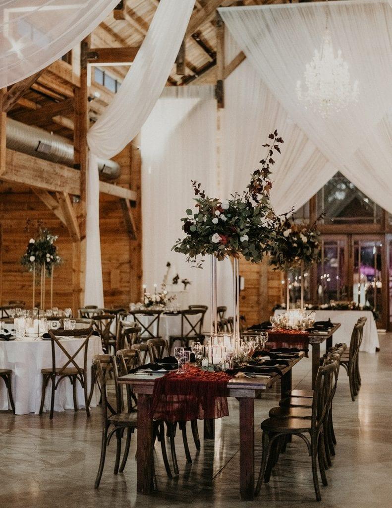 An elegant bohemian wedding reception photographed by Austin, Texas wedding photographer Nikk Nguyen.
